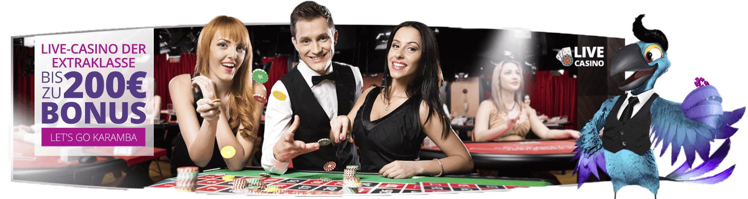 Spielen Sie ein Live Casino im Karamba Casino, einem der besten Casinos in Deutschland