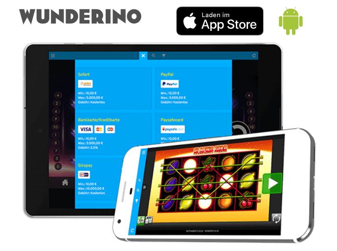 Genießen Sie Ihr Wunderino Casino überall mit der Wunderino App