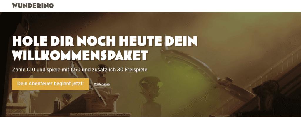 Wunderino Deutschland hat einen tollen Bonus. Genießen Sie dieses Online Casino und haben Sie Spaß