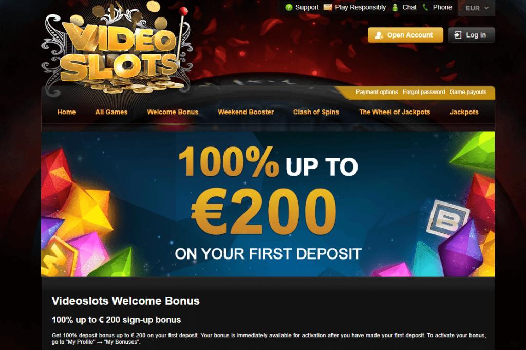 Genieße den besten Bonus im Videoslots Casino