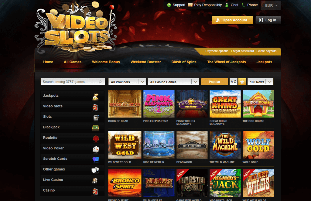 Videoslots - Beste Casino-Auswahl an Spielen im Videoslots Casino