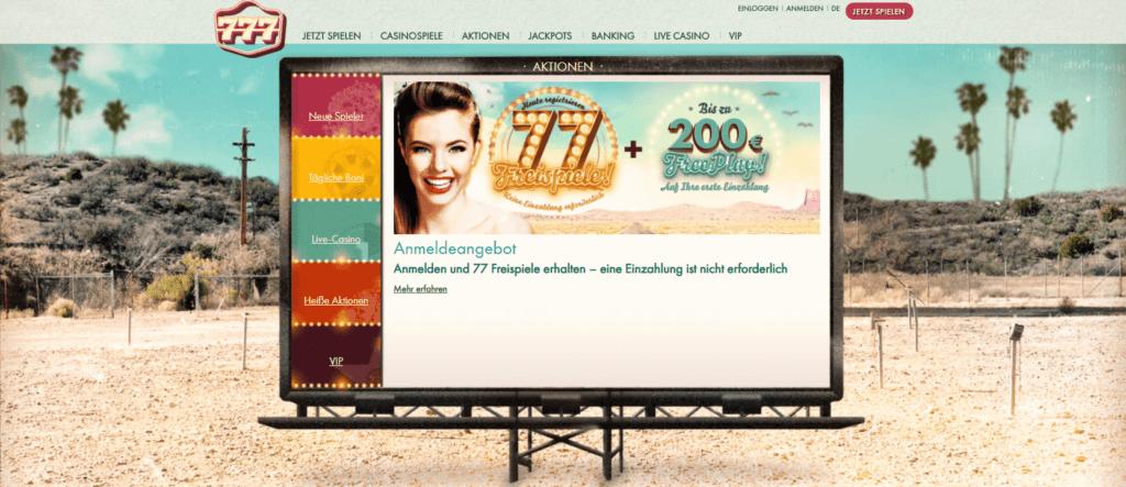 Genießen Sie alle Boni, die das 777 Casino Deutschland zu bieten hat, und nutzen Sie diese
