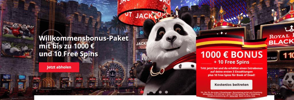 Genießen Sie den Royal Panda Bonus und beginnen Sie Ihren Spaß im Royal Panda Online Casino