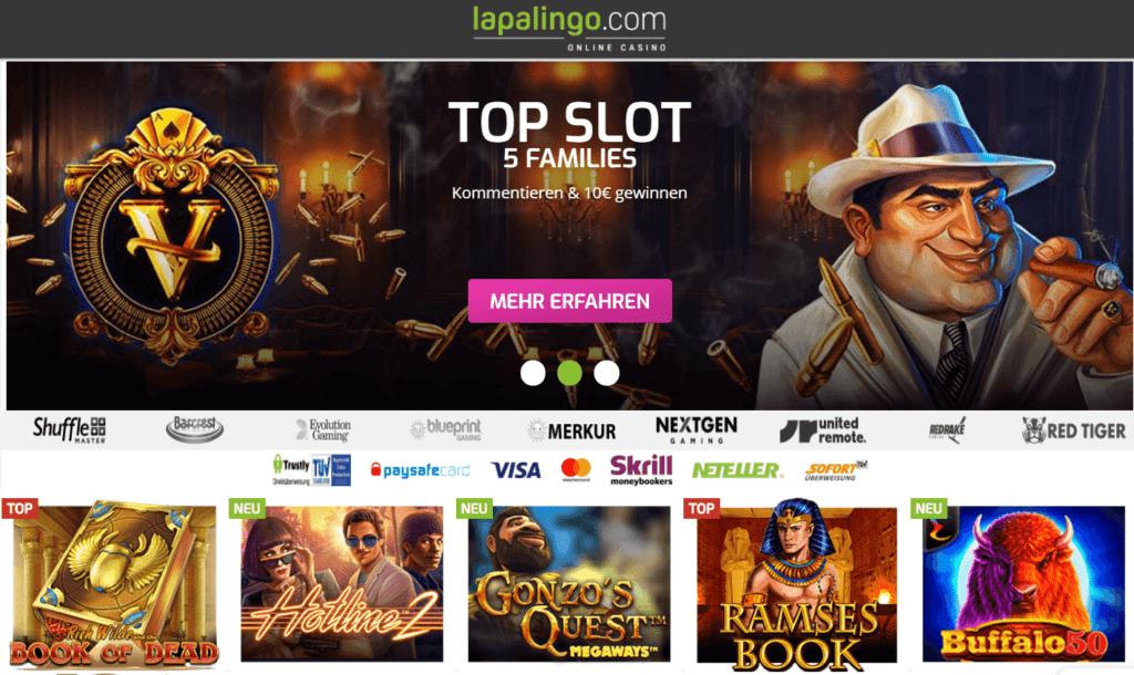 Kommen Sie und genießen Sie all die fantastischen Slots, die Sie im Lapalingo Casino Deutschland finden können