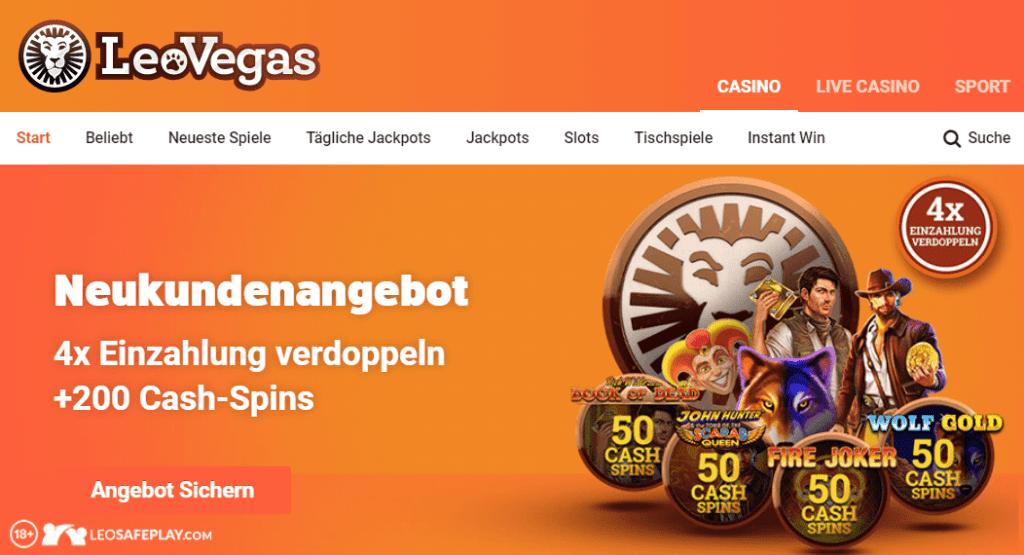 Nutzen Sie alle Leovegas Bonus und beginnen Sie Ihre lustige Reise im Leo Vegas Casino Deutschland