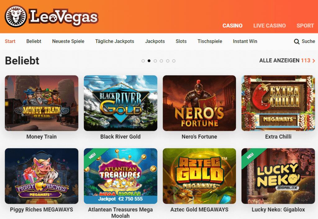 Das Leo Vegas Casino Deutschland bietet viele verschiedene Spiele, mit denen Sie Ihren Spaß ausprobieren, kommen und spielen können