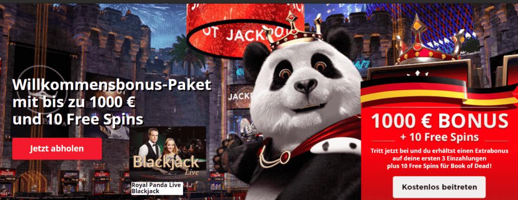 Wenden Sie Ihr gesamtes Wissen über die Blackjack Regeln im Royal Panda Casino zu Ihrem Vorteil an