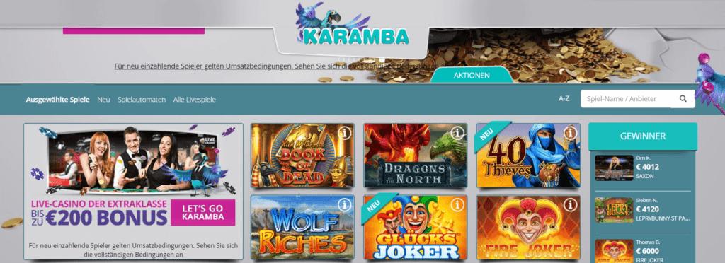 Genießen Sie all die fantastischen und einzigartigen Spiele, die das Karamba Online Casino zu bieten hat, und genießen Sie Spaß und Unterhaltung in diesem fantastischen Online Casino