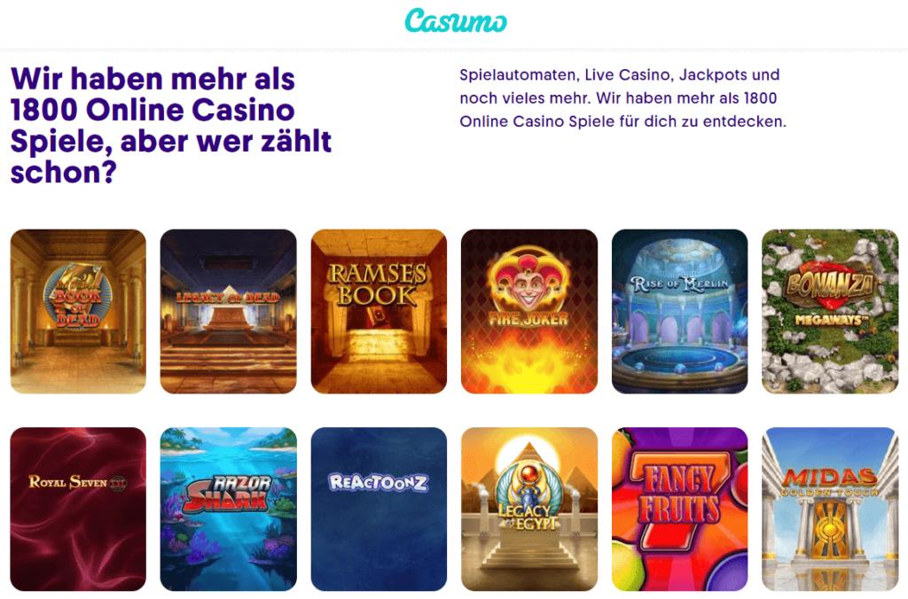 Mit seiner großen Auswahl an Spielen sind wir sicher, dass Sie Casumo Casino Deutschland genießen werden