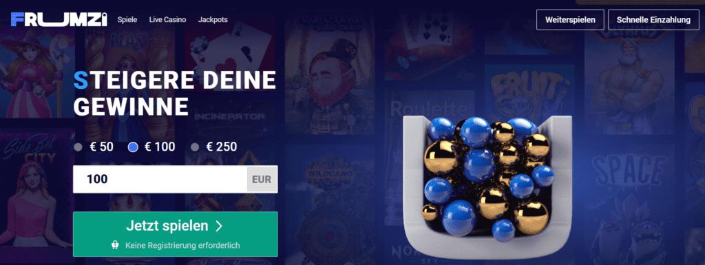 Frumzi Casino Deutschland starten Sie Ihren Spaß in diesem casino ohne konto